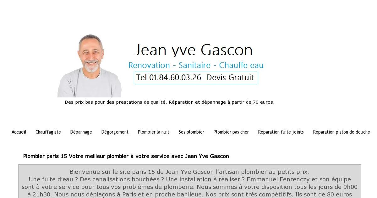 nicolas plombier paris 15 pour 39 euros de l 39 heure. Black Bedroom Furniture Sets. Home Design Ideas